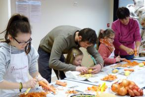 L'atelier cuisine en famille en février 2015