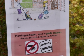 Sensibilisation au ramassage des déjections canines, quartier des Villes Moisan