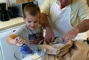 Samedi 14 octobre, préparation de la pâte au Tremplin