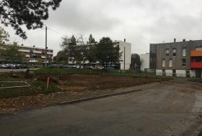 Création de l'emplacement du futur city stade et mur d'escalade