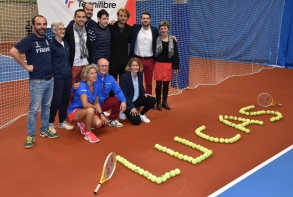 Diaporama : photo de couverture inauguration tennis - octobre 2019