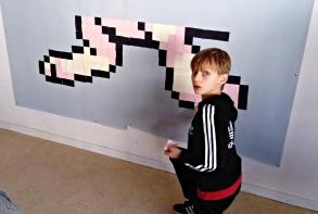 Diaporama Pixel Art école Louise Michel janvier 2017 image de couverture