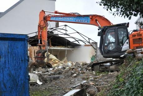 Actualité urbanisme démolitions bâtiments février 2018 engin de chantier