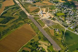 Vue aérienne du quartier des Plaines Villes à Ploufragan