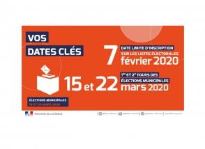 Elections : dates clés 2020 inscription sur listes électorales