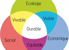 Graphique expliquant le développement durable